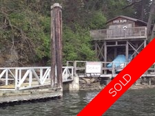 Thetis Island Private Island 3.3 acres with home, dock, boathouse for sale:  2 bedroom 1,560 sq.ft. (Listed 2014-04-15)