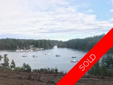 Thetis Island 2.292 Acre Waterfront Lot with deep water moorage for sale:    (Listed 2017-11-14)